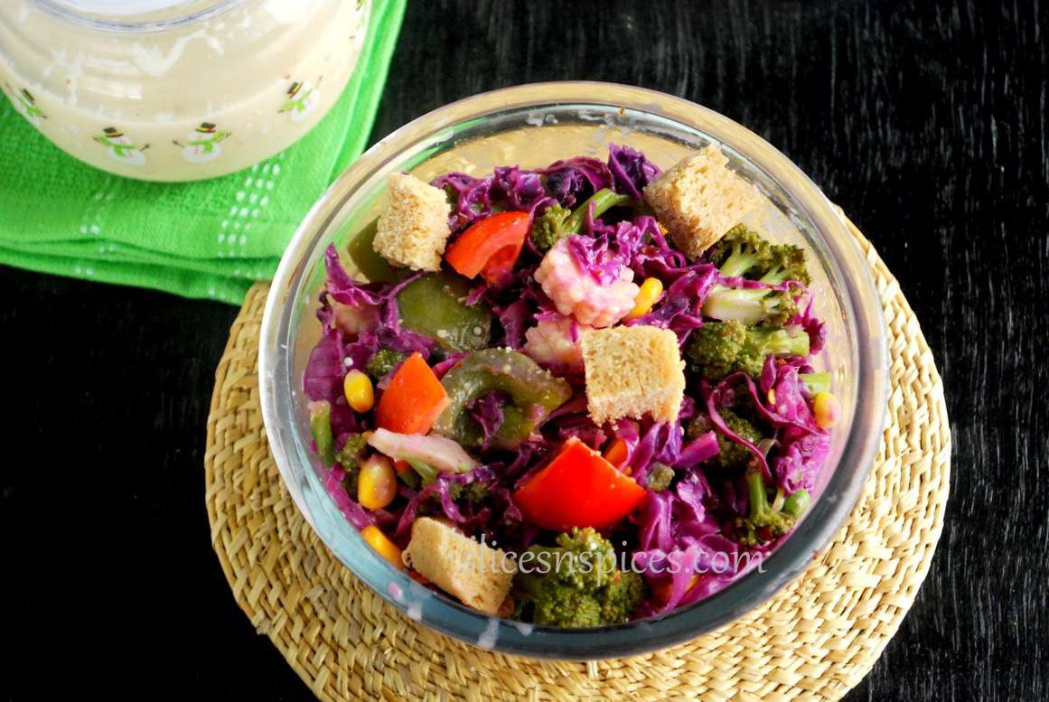 red cabbage and corn salad 2