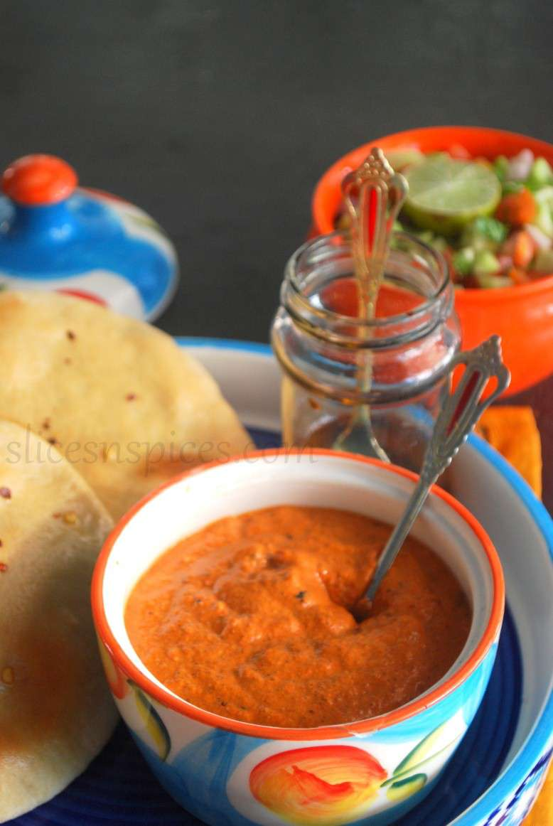 pita bread and muhammara 1