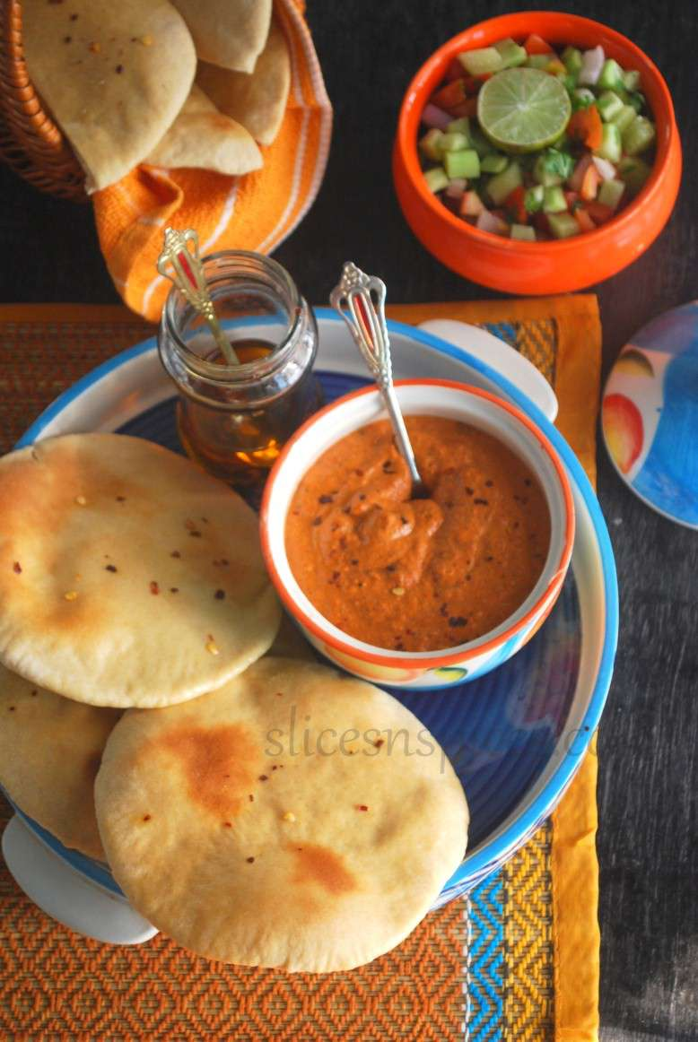 pita bread and muhammara 5