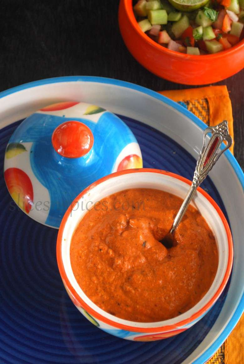 red bellpepper and walnut dip 2